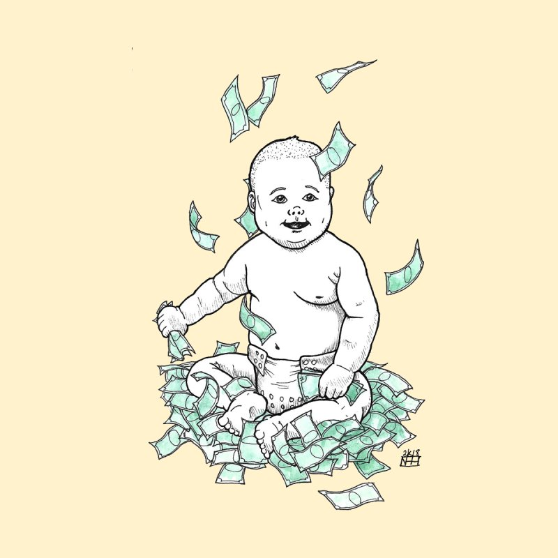 Money Baby Kids Baby T-Shirt by DEROSNEC's Art Shop