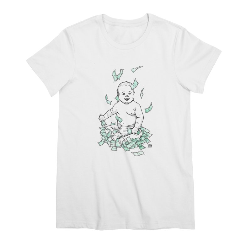 Money Baby Women's Premium T-Shirt by DEROSNEC's Art Shop