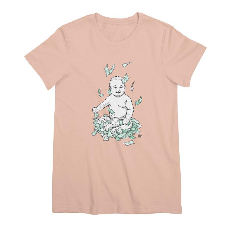 Money Baby Women's Premium T-Shirt by DEROSNEC's Art Shop