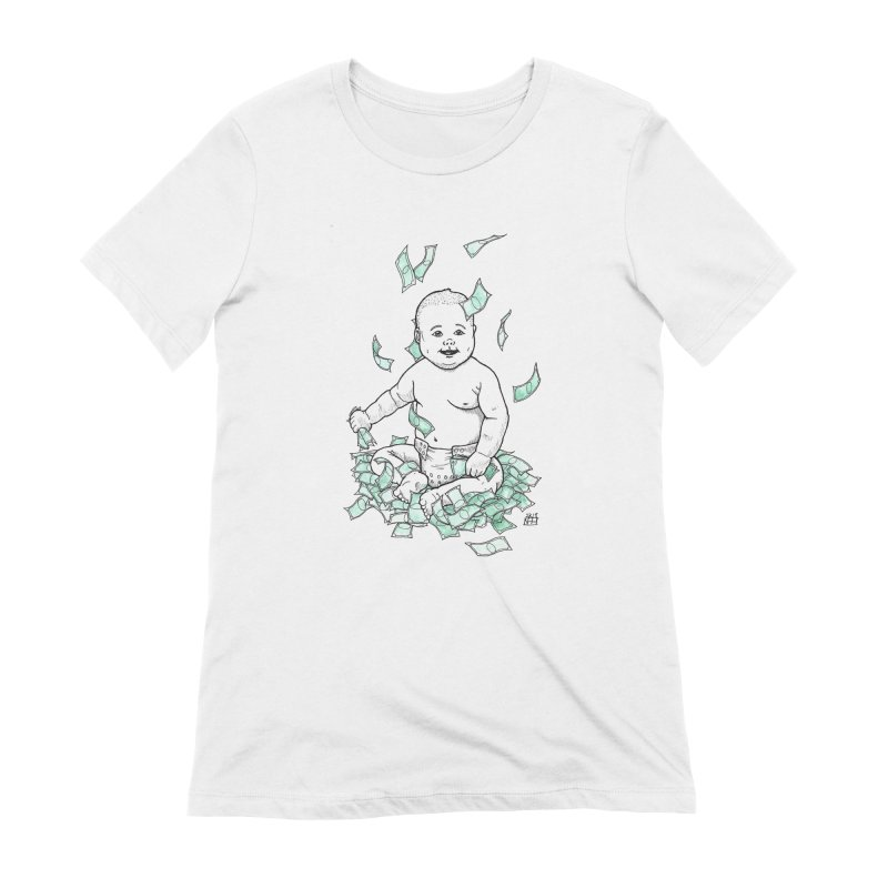 Money Baby Women's Extra Soft T-Shirt by DEROSNEC's Art Shop