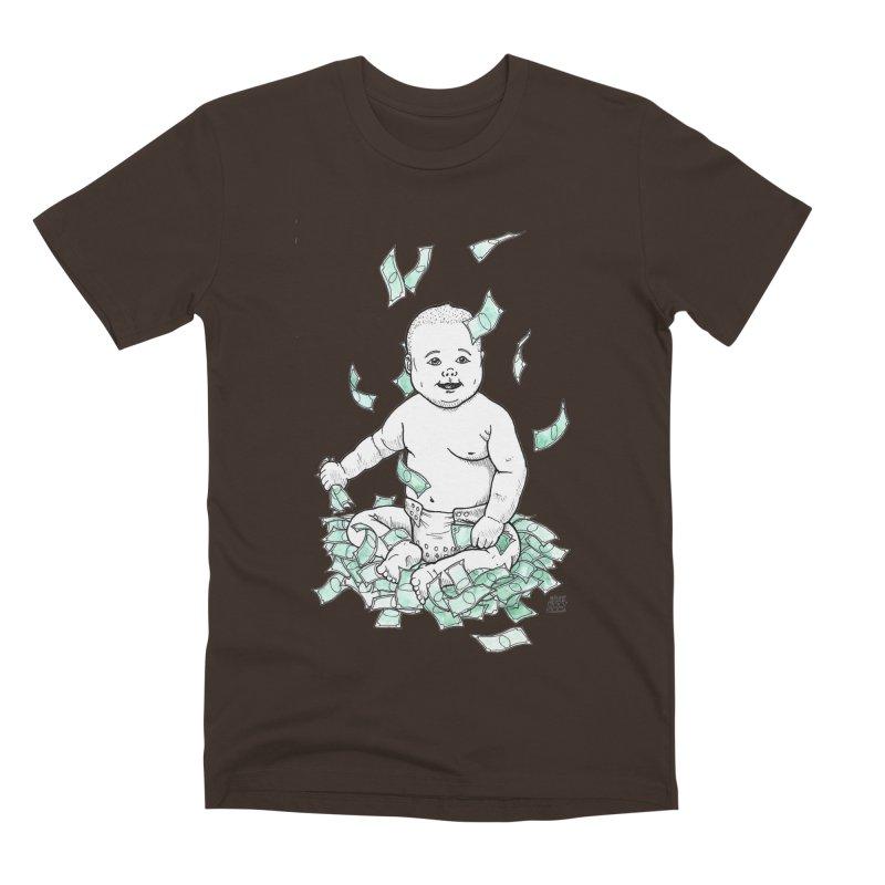 Money Baby Men's Premium T-Shirt by DEROSNEC's Art Shop