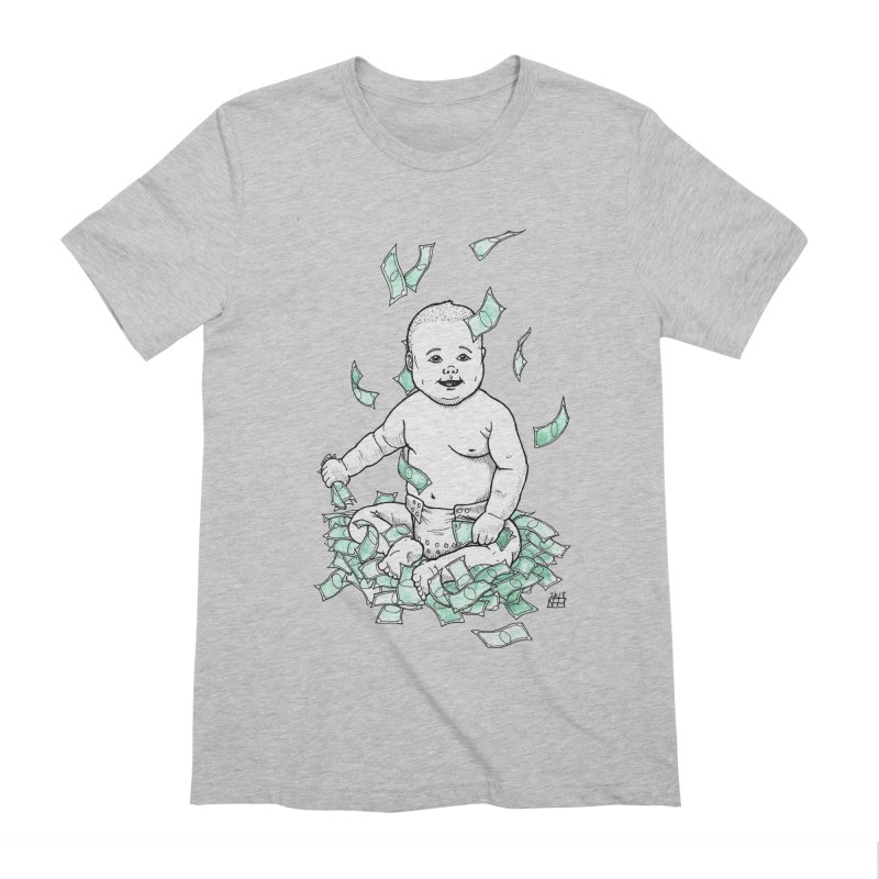 Money Baby Men's Extra Soft T-Shirt by DEROSNEC's Art Shop