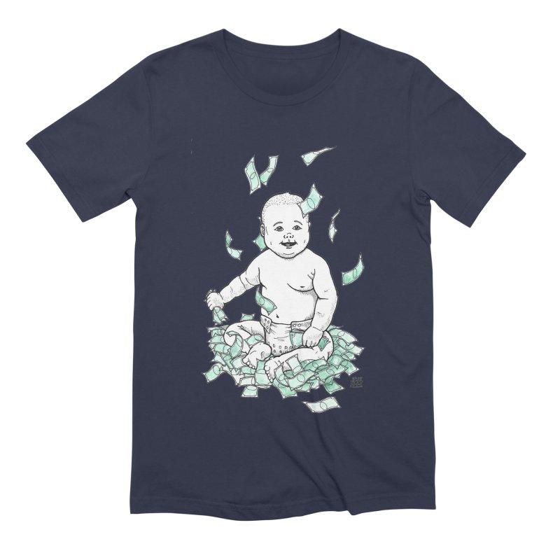 Money Baby Men's Extra Soft T-Shirt by DEROSNEC's Art Shop