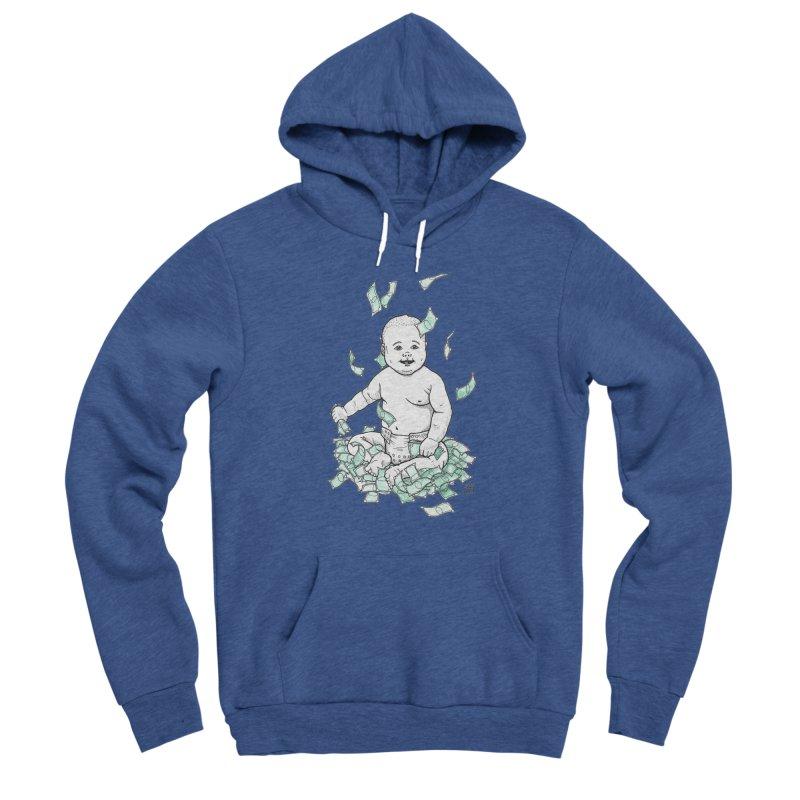 Money Baby Men's Sponge Fleece Pullover Hoody by DEROSNEC's Art Shop