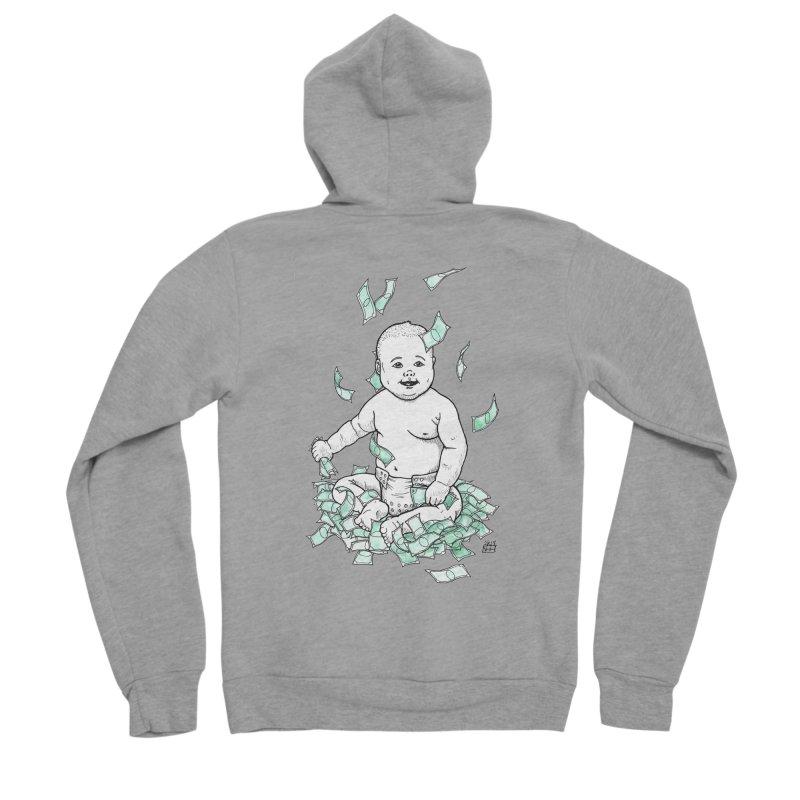 Money Baby Women's Sponge Fleece Zip-Up Hoody by DEROSNEC's Art Shop