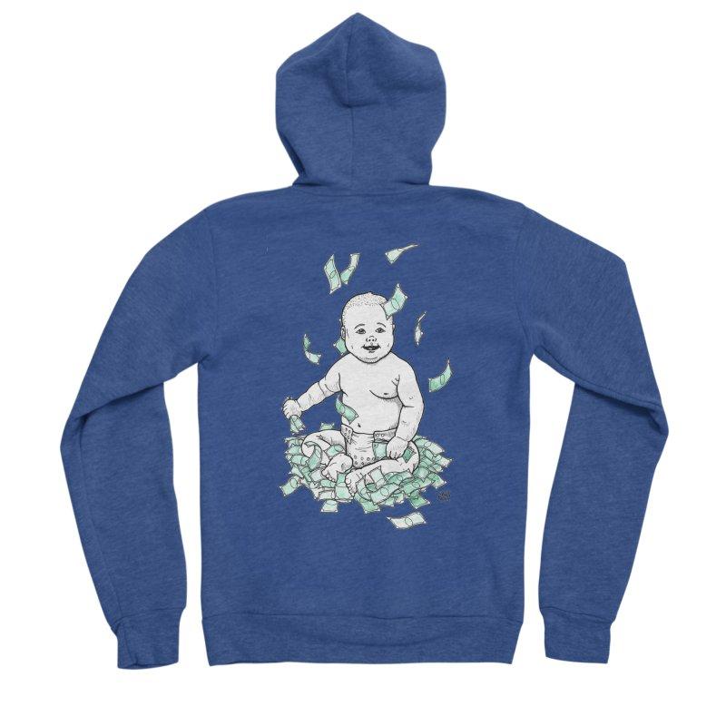 Money Baby Men's Sponge Fleece Zip-Up Hoody by DEROSNEC's Art Shop