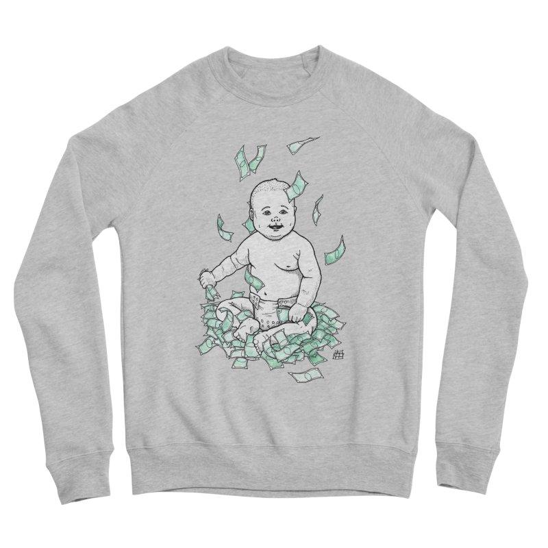 Money Baby Women's Sponge Fleece Sweatshirt by DEROSNEC's Art Shop