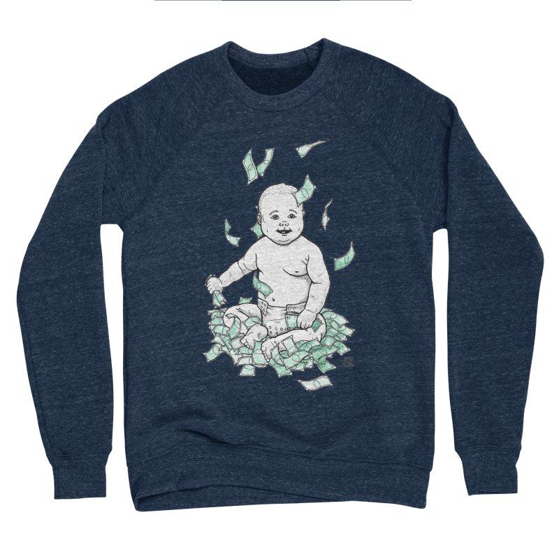 Money Baby Men's Sponge Fleece Sweatshirt by DEROSNEC's Art Shop