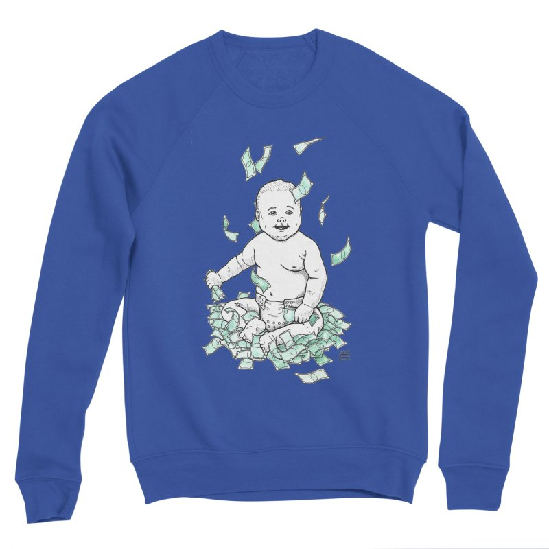 Money Baby Women's Sponge Fleece Sweatshirt by DEROSNEC's Art Shop