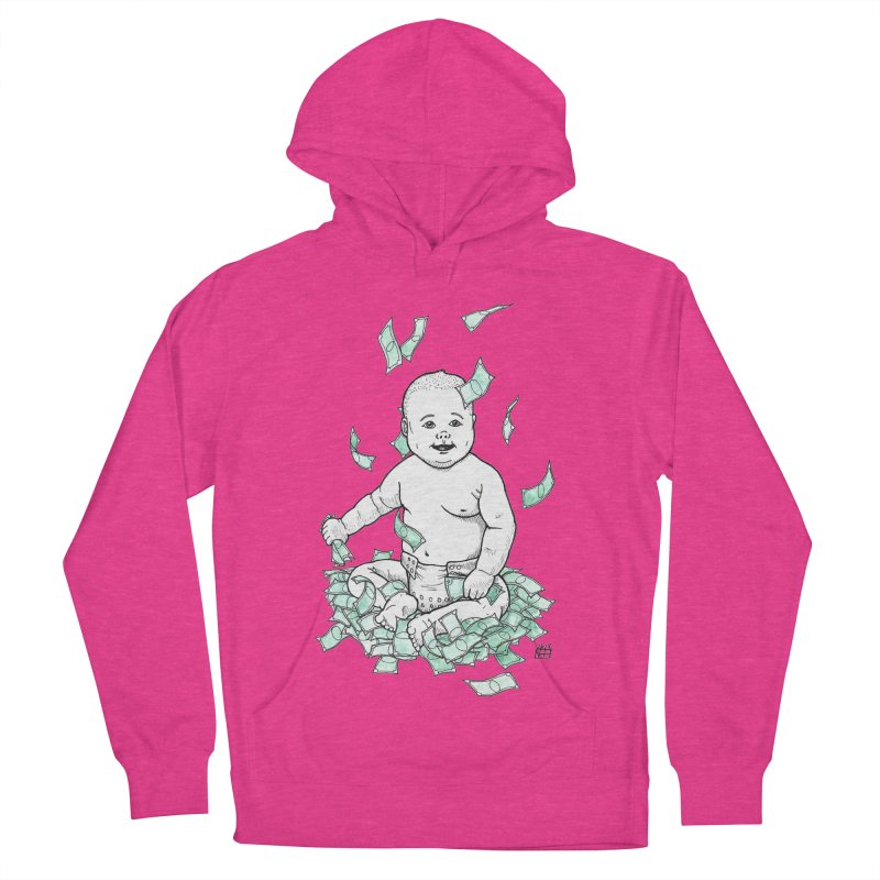 Money Baby Women's French Terry Pullover Hoody by DEROSNEC's Art Shop