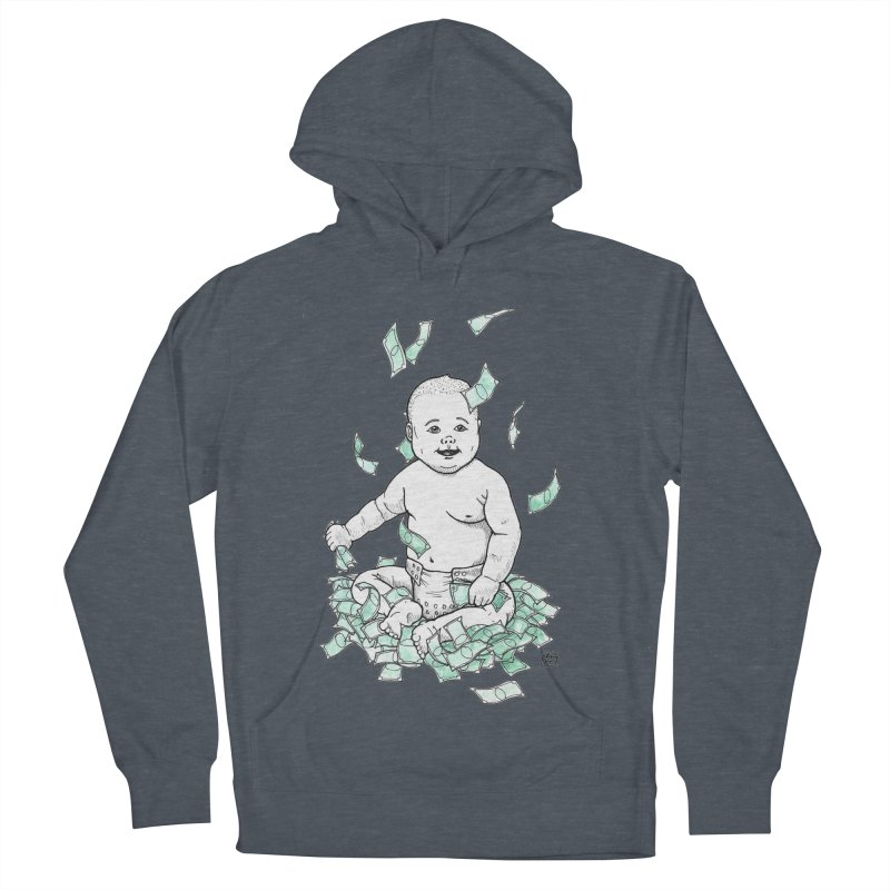 Money Baby Men's French Terry Pullover Hoody by DEROSNEC's Art Shop