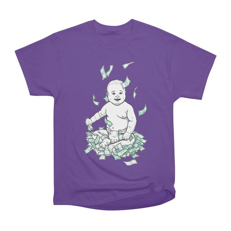 Money Baby Men's Heavyweight T-Shirt by DEROSNEC's Art Shop