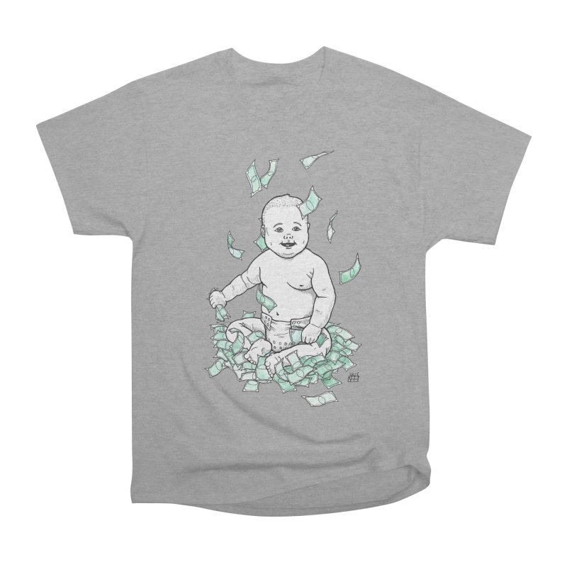 Money Baby Women's Heavyweight Unisex T-Shirt by DEROSNEC's Art Shop