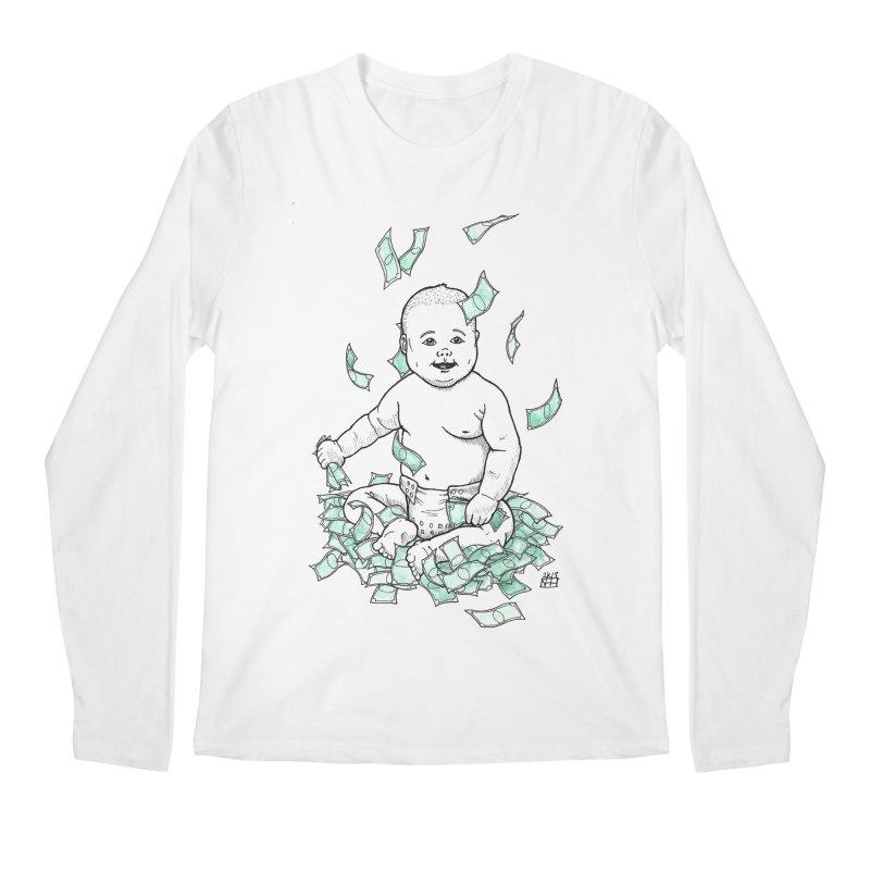 Money Baby Men's Regular Longsleeve T-Shirt by DEROSNEC's Art Shop