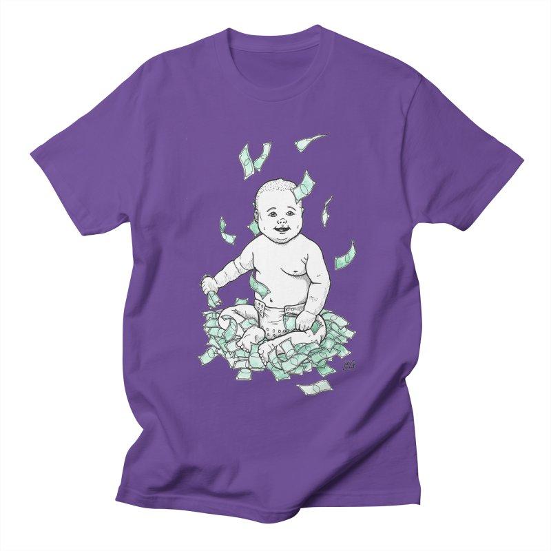 Money Baby Men's Regular T-Shirt by DEROSNEC's Art Shop