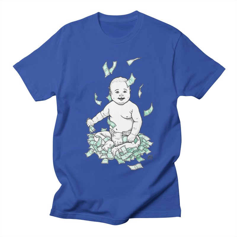 Money Baby Women's Regular Unisex T-Shirt by DEROSNEC's Art Shop