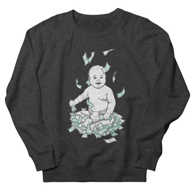 Money Baby Women's French Terry Sweatshirt by DEROSNEC's Art Shop