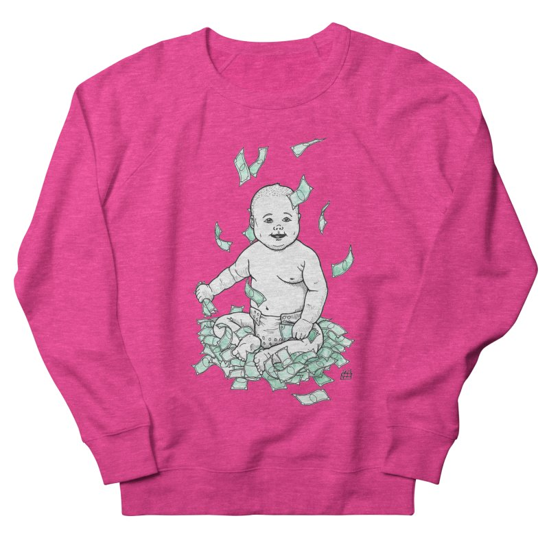 Money Baby Women's French Terry Sweatshirt by DEROSNEC's Art Shop