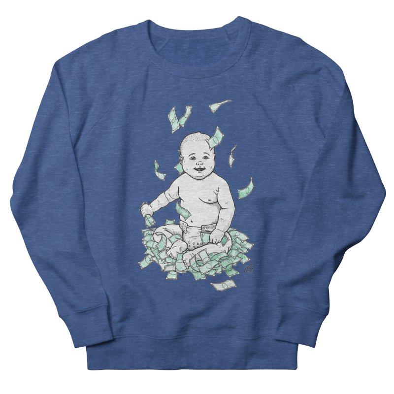 Money Baby Men's French Terry Sweatshirt by DEROSNEC's Art Shop