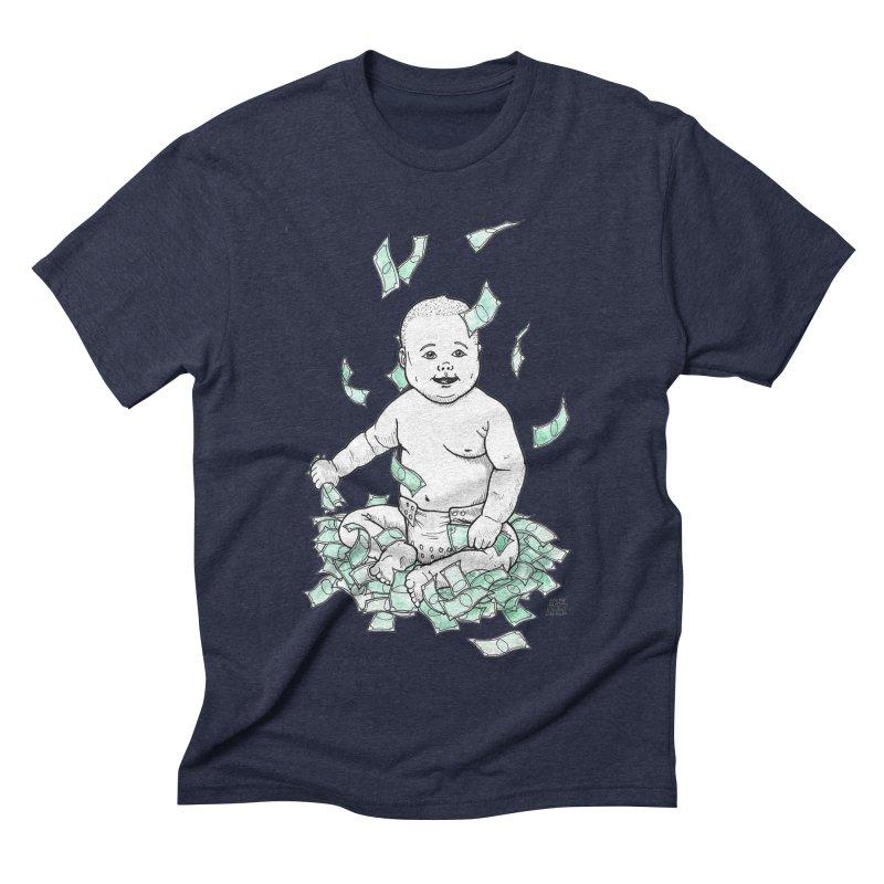 Money Baby Men's Triblend T-Shirt by DEROSNEC's Art Shop
