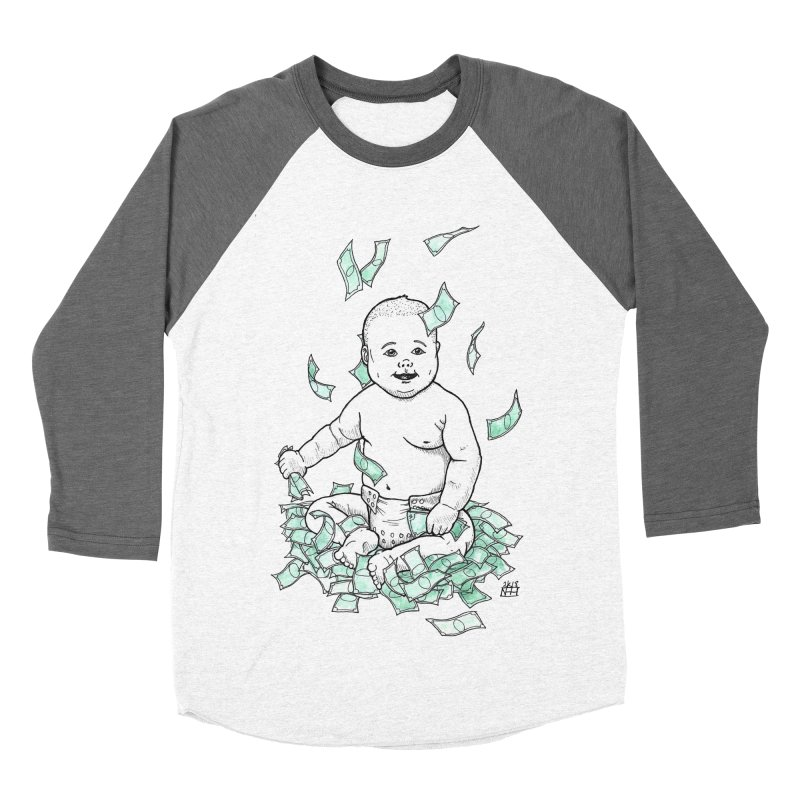 Money Baby Women's Baseball Triblend Longsleeve T-Shirt by DEROSNEC's Art Shop