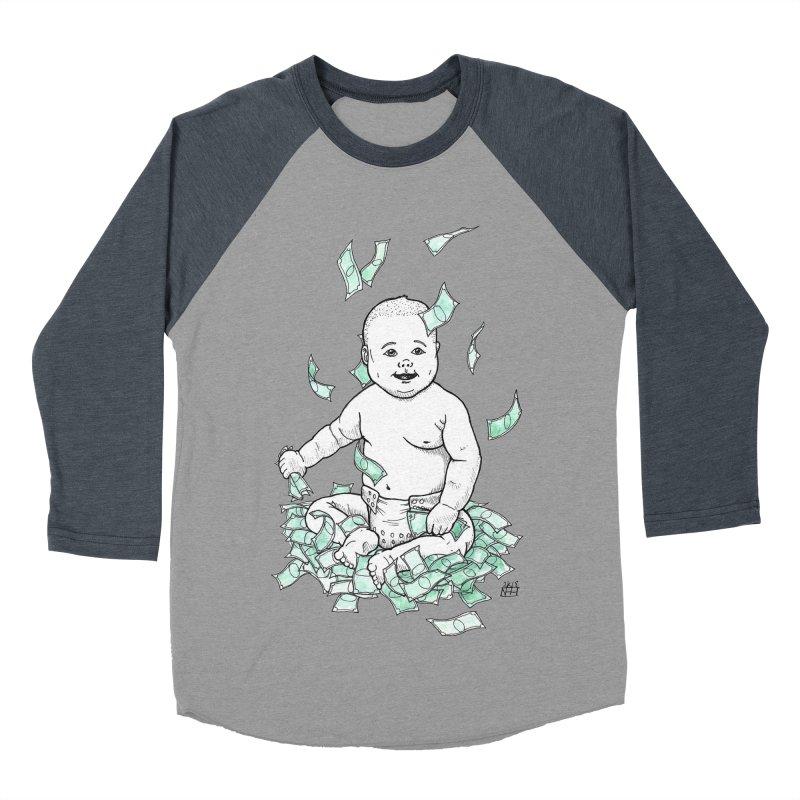 Money Baby Women's Baseball Triblend Longsleeve T-Shirt by DEROSNEC's Art Shop