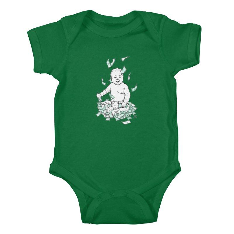 Money Baby Kids Baby Bodysuit by DEROSNEC's Art Shop