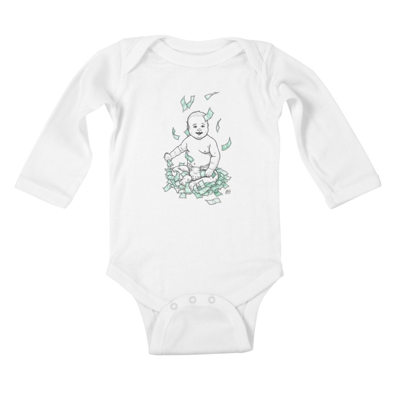 Money Baby Kids Baby Longsleeve Bodysuit by DEROSNEC's Art Shop