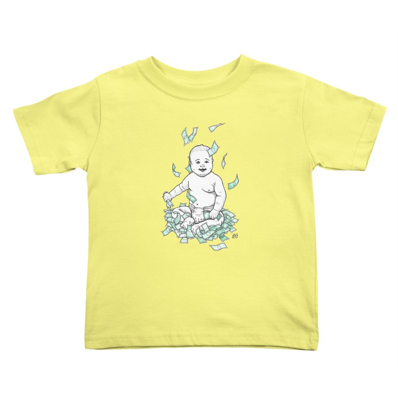Money Baby Kids Toddler T-Shirt by DEROSNEC's Art Shop