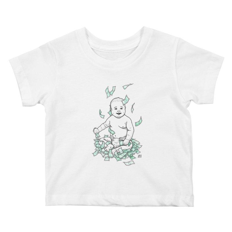 Money Baby Kids Baby T-Shirt by DEROSNEC's Art Shop