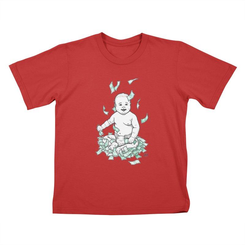 Money Baby Kids T-Shirt by DEROSNEC's Art Shop