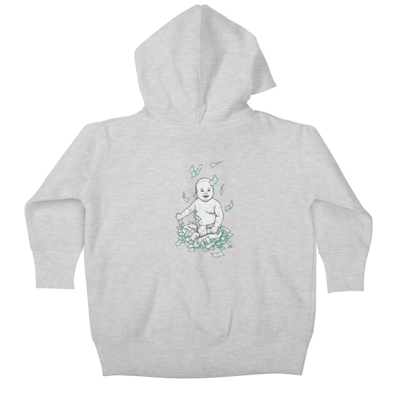 Money Baby Kids Baby Zip-Up Hoody by DEROSNEC's Art Shop