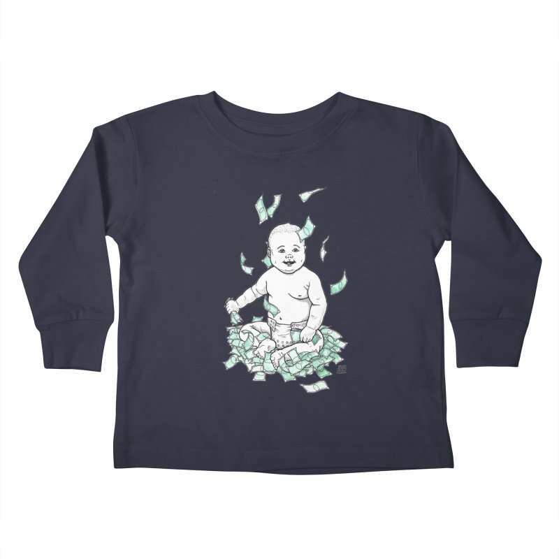 Money Baby Kids Toddler Longsleeve T-Shirt by DEROSNEC's Art Shop