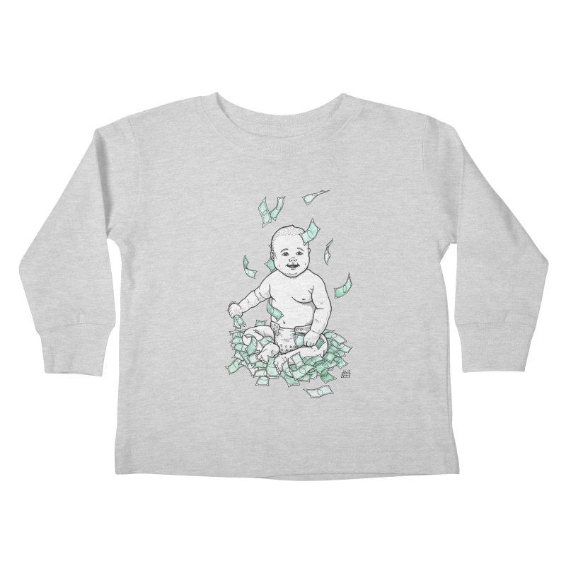 Money Baby Kids Toddler Longsleeve T-Shirt by DEROSNEC's Art Shop