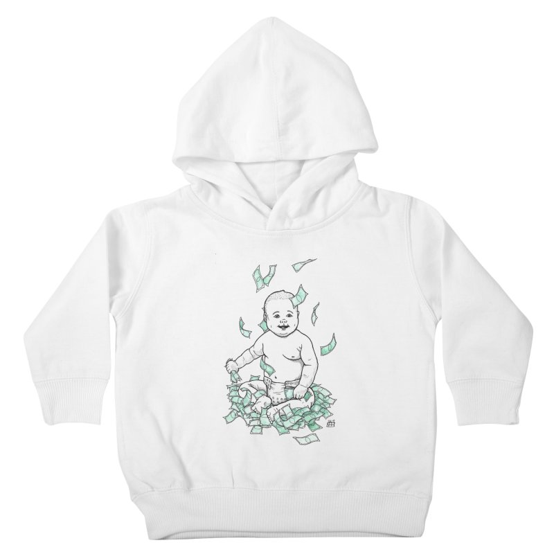 Money Baby Kids Toddler Pullover Hoody by DEROSNEC's Art Shop
