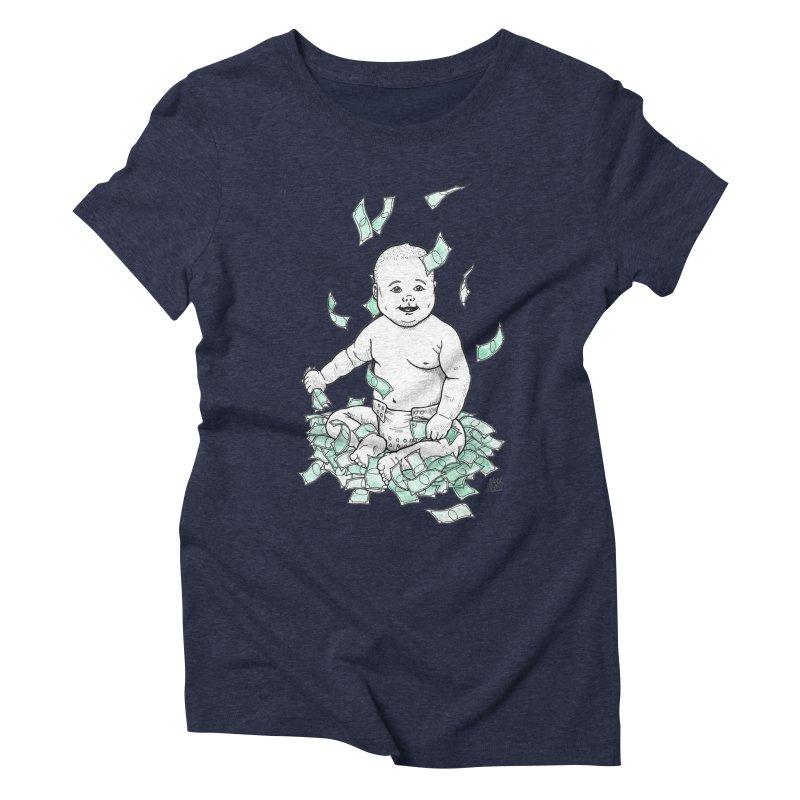 Money Baby Women's Triblend T-Shirt by DEROSNEC's Art Shop