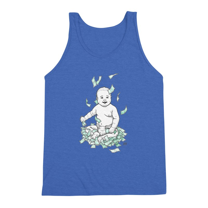Money Baby Men's Triblend Tank by DEROSNEC's Art Shop