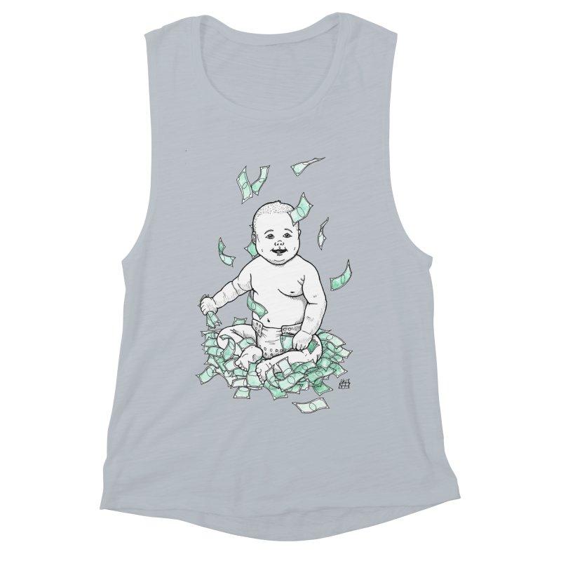 Money Baby Women's Muscle Tank by DEROSNEC's Art Shop