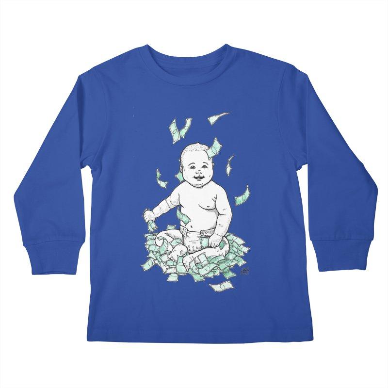 Money Baby Kids Longsleeve T-Shirt by DEROSNEC's Art Shop