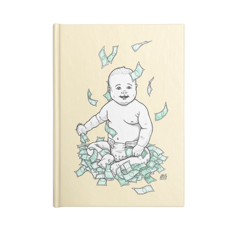 Money Baby Accessories Blank Journal Notebook by DEROSNEC's Art Shop
