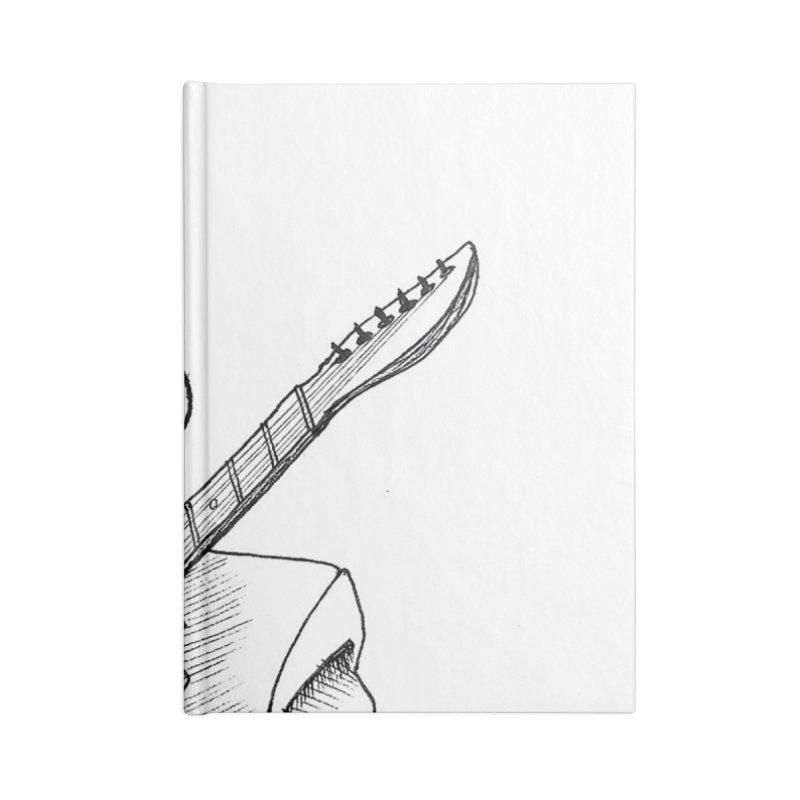 Muddy Blues Accessories Lined Journal Notebook by DEROSNEC's Art Shop