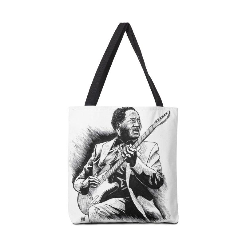 Muddy Blues Accessories Tote Bag Bag by DEROSNEC's Art Shop
