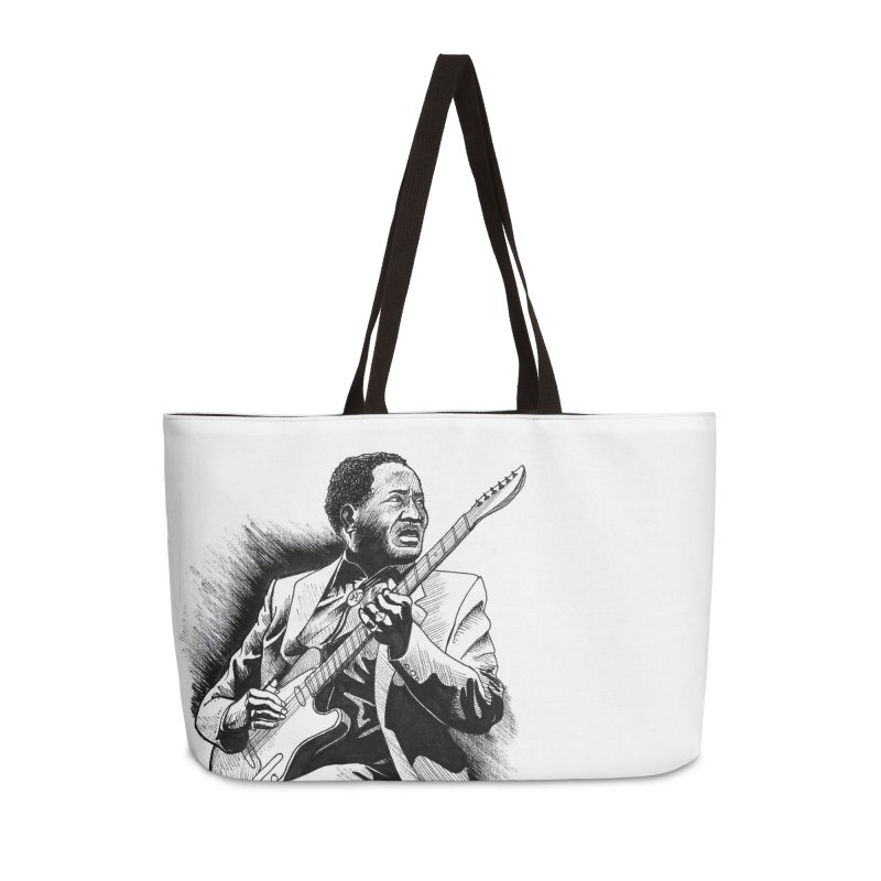 Muddy Blues Accessories Weekender Bag Bag by DEROSNEC's Art Shop