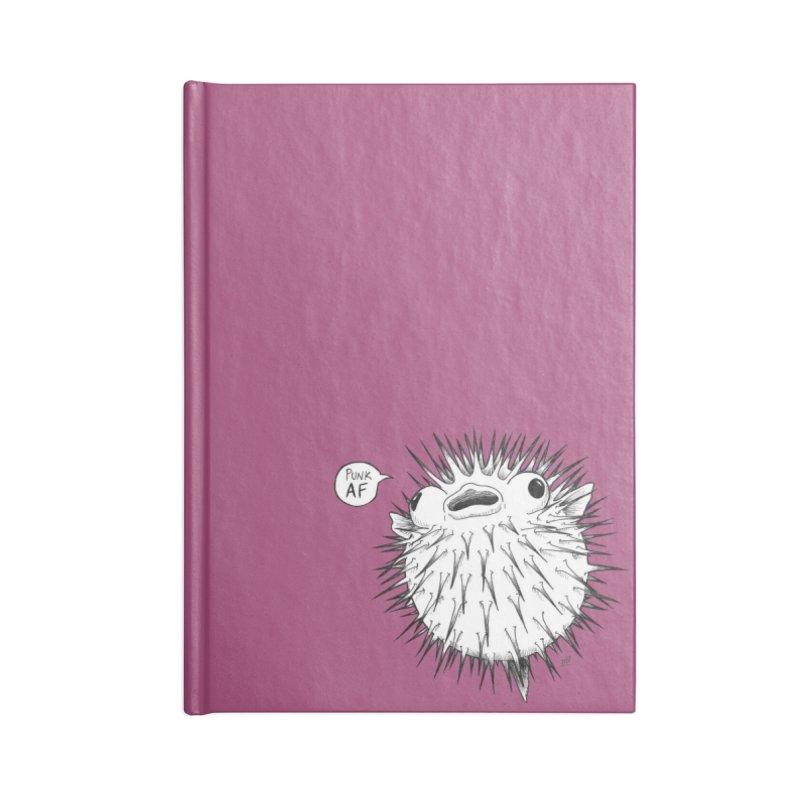Pokey Punk AF Accessories Lined Journal Notebook by DEROSNEC's Art Shop