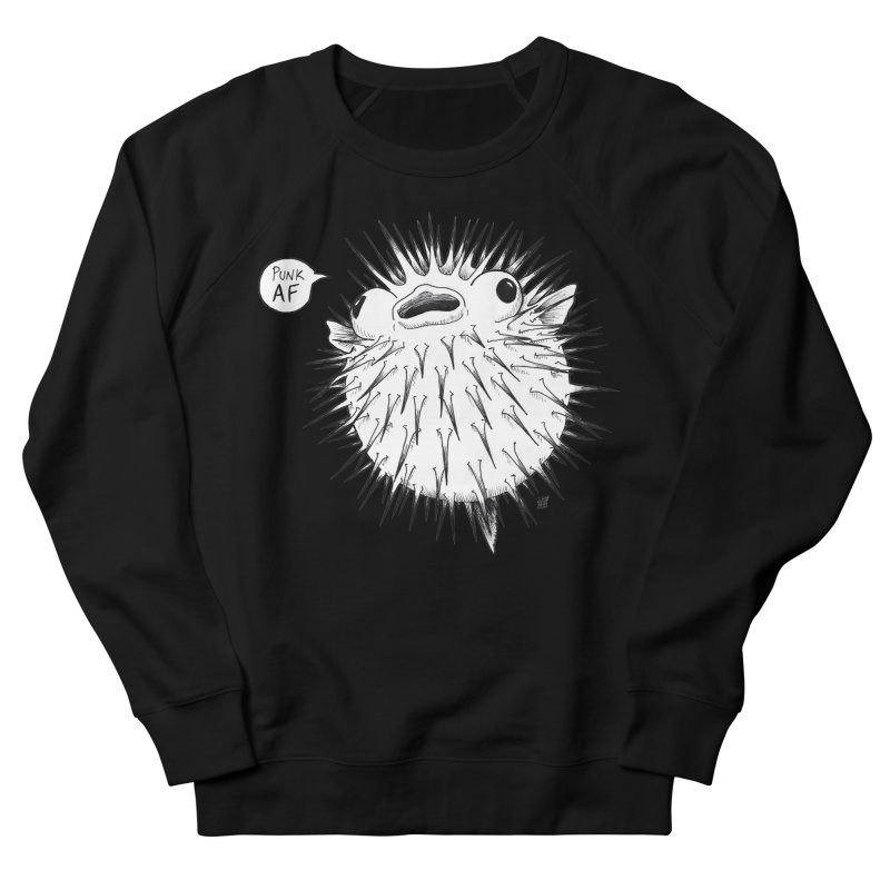 Pokey Punk AF Men's French Terry Sweatshirt by DEROSNEC's Art Shop