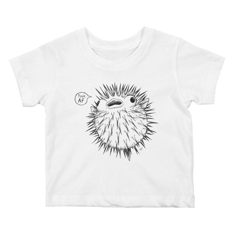 Pokey Punk AF Kids Baby T-Shirt by DEROSNEC's Art Shop