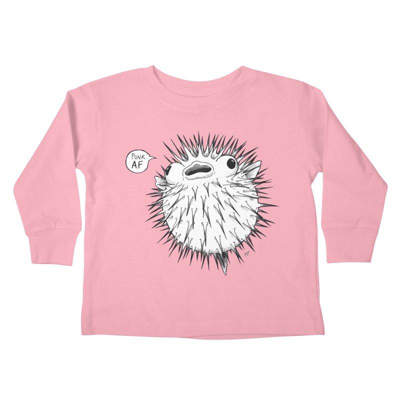 Pokey Punk AF Kids Toddler Longsleeve T-Shirt by DEROSNEC's Art Shop