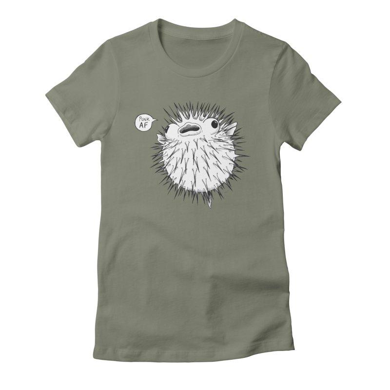 Pokey Punk AF Women's Fitted T-Shirt by DEROSNEC's Art Shop