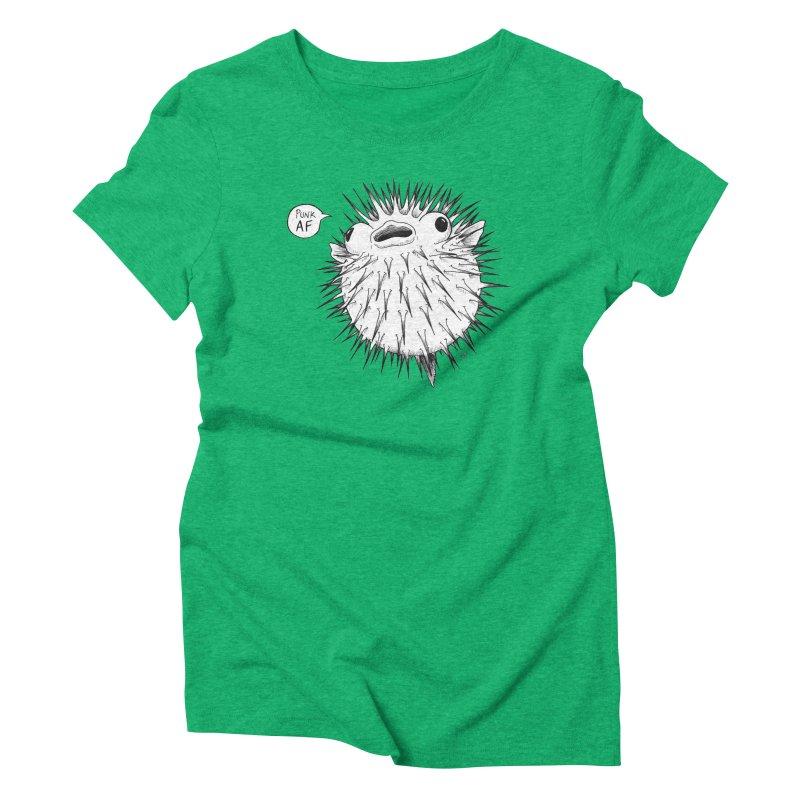 Pokey Punk AF Women's Triblend T-Shirt by DEROSNEC's Art Shop