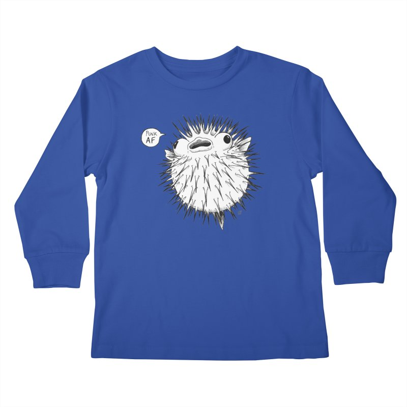Pokey Punk AF Kids Longsleeve T-Shirt by DEROSNEC's Art Shop